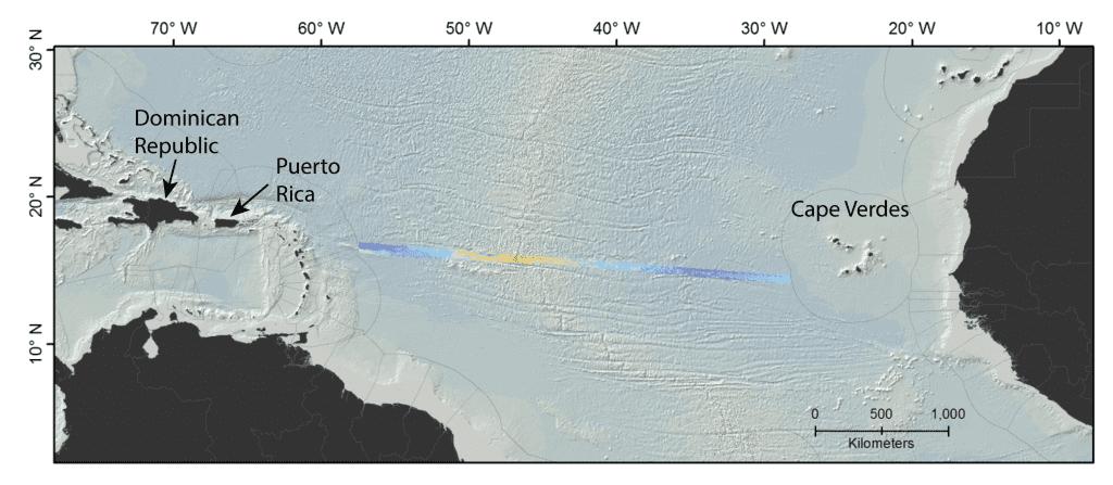 MSM88 bathymetry map